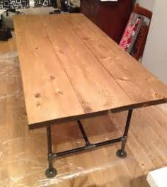 diy pipe wood table pt 2 storefront