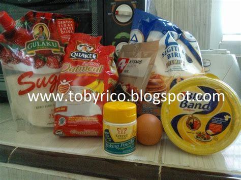 Timbangan Kue Kering tobyrico s kitchen kue kering oatmeal kismis