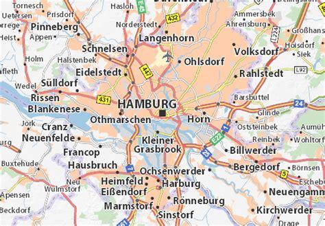 hamburg karte karte stadtplan hamburg viamichelin