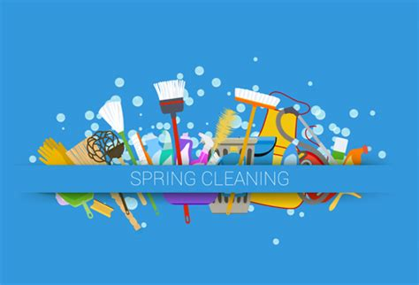 creative spring cleaning vector background 06 vector