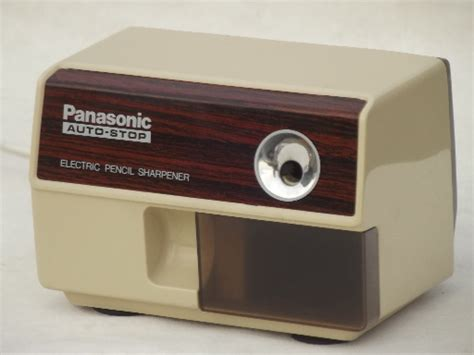 how to a to stop retro panasonic auto stop electric pencil sharpener model kp 110