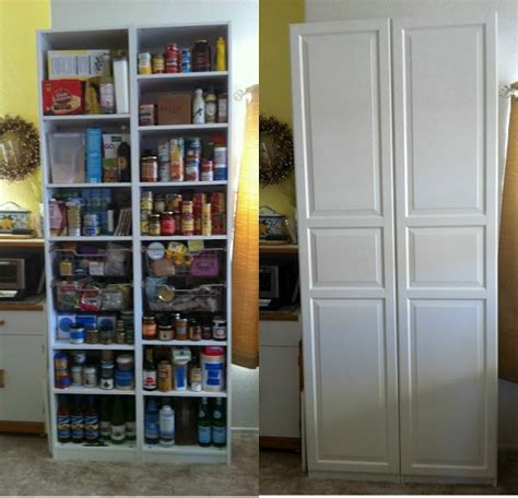 Pantry Net by Thin Pantry Storage Made From 2 Pax Cabinets Together