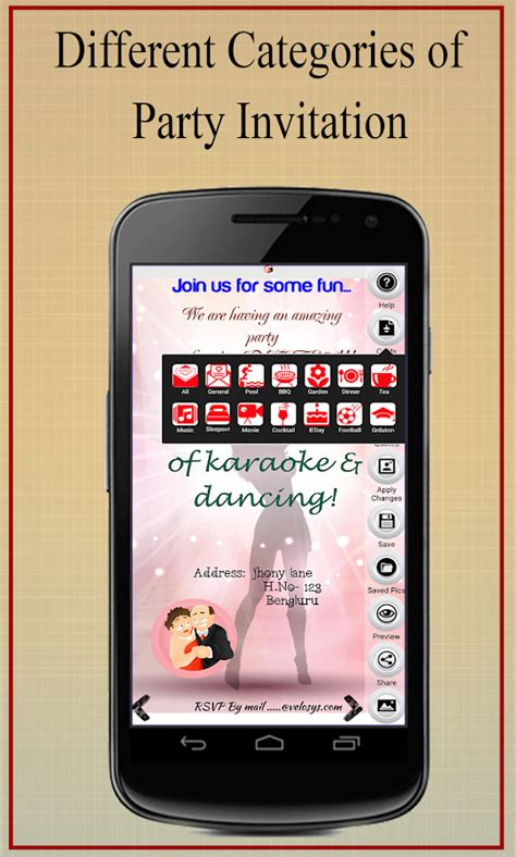 Party Invitation Card Maker Android Apps On Google Play Phone Template Maker