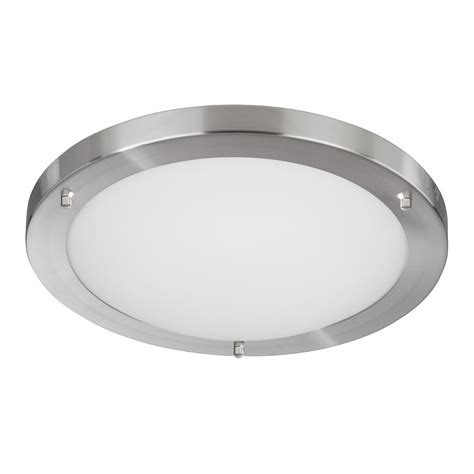 Silver Ceiling Light Searchlight 10633ss Bathroom Lights 1 Light Satin Silver Flush Ceiling Light
