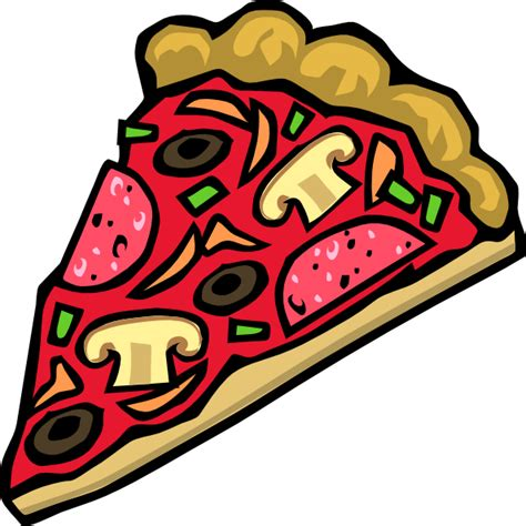 clipart pizza pizza slice veggies pepperoni clip at clker