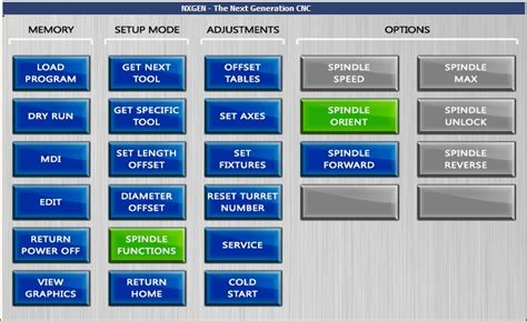 layout menu touch screen touchscreen interface nxgen the next generation cnc