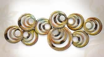d 233 coration murale en m 233 tal abstraite cercles concentriques