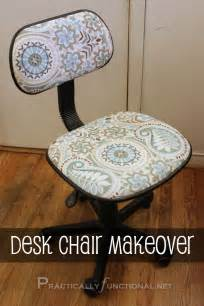 Diy Desk Chair Makeover Reupholster A Desk Chair Practically Functional