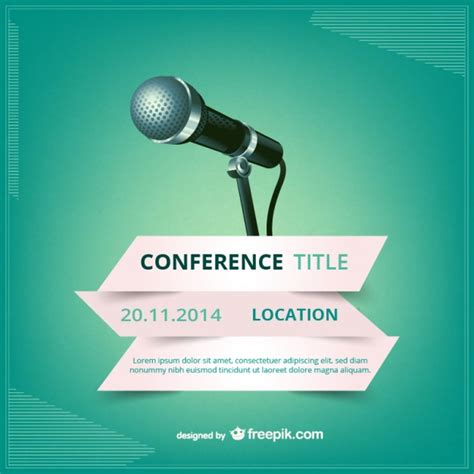 Conference vector poster Vector   Free Vector Download In