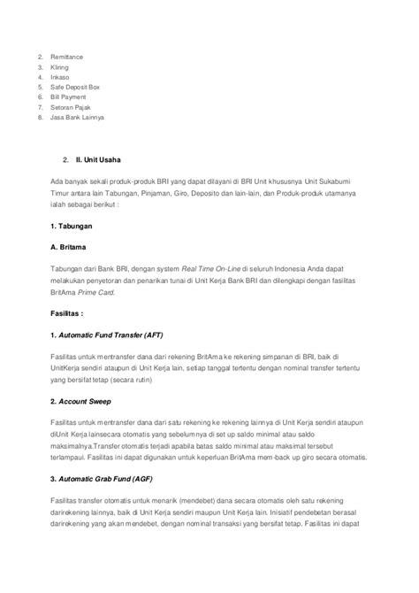 Safe Deposit Box Bank Bri makalah database sistem informasi bank