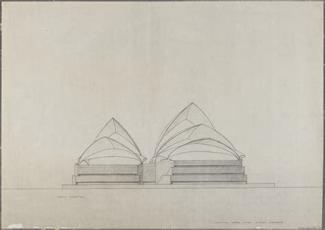 drawing of houses sydney opera house utzon drawings state records nsw