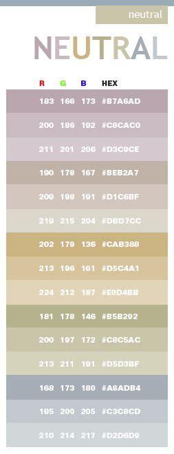 list of neutral colors best 25 color charts ideas on pinterest paint colour