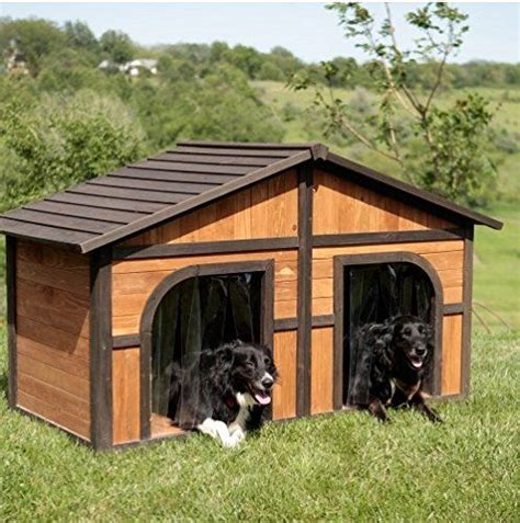 Extra Large Solid Wood Dog Houses Suits Two Dogs Or 1 Outdoor Furniture For Dogs