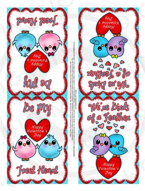 items similar to valentines day printable sheet cards for