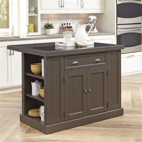small kitchen island table work station with drop leaf