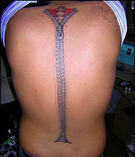 back zip tattoo 7 spine zipper tattoos
