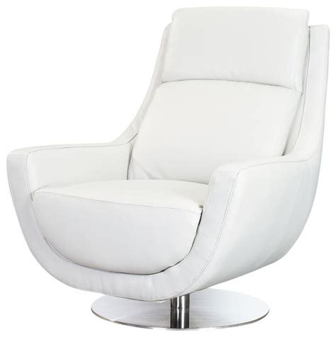 White Leather Accent Chair Germany Swivel Chair In White Leather Contemporary Armchairs And Accent Chairs