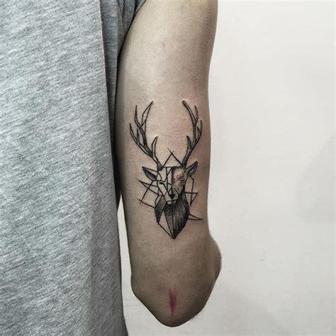 geometric compass tattoo deer geometric tattoos compass