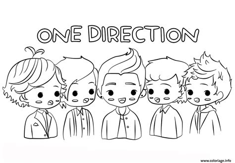 one direction coloring pages pdf coloriage one direction celebrite star dessin