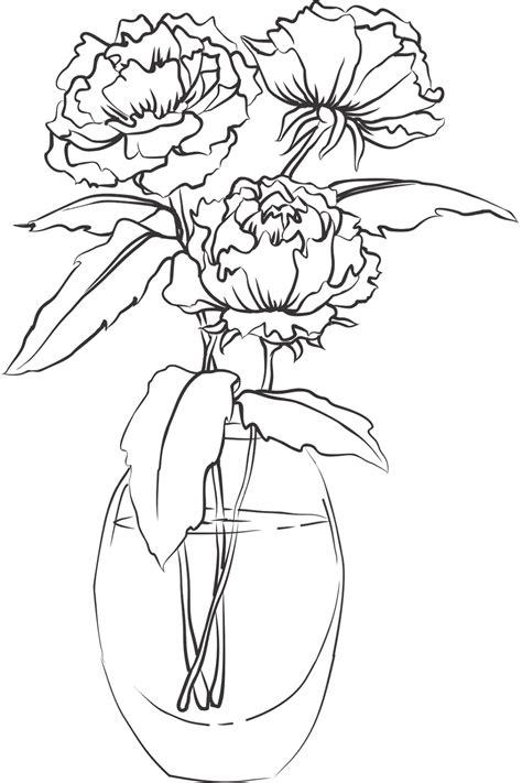 printable flowers in a vase vase and flower template blank loving printable