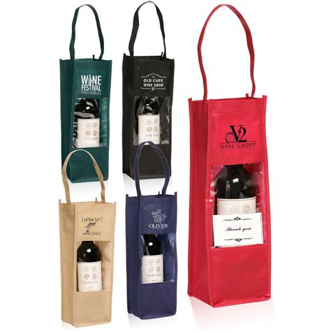 Giveaway Bags Wholesale - personalized non woven wine bottle carrier gift bags tot100 discountmugs