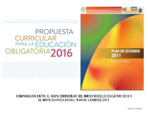 Distributor Madu comparaci 243 n entre el mapa curricular nuevo modelo