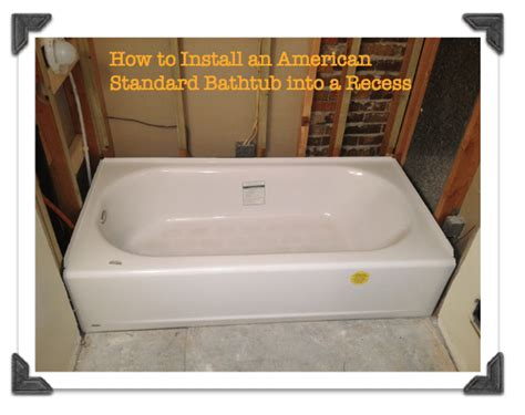 how to install a bathtub how to install a bathtub how to install tile around a