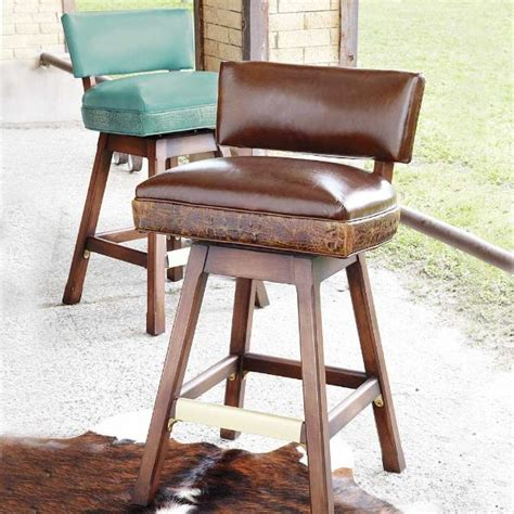 bar stools with low backs leather low back bar stool