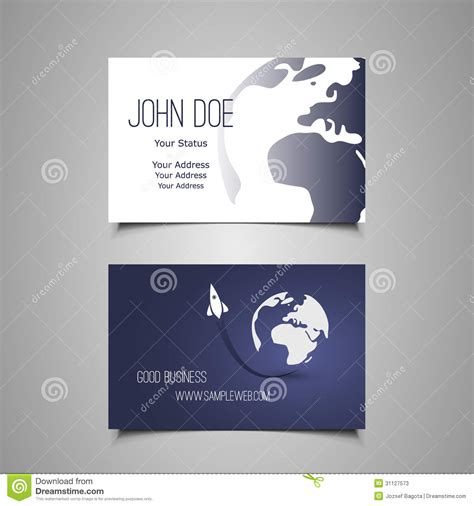 rocket card template business card template stock vector image of