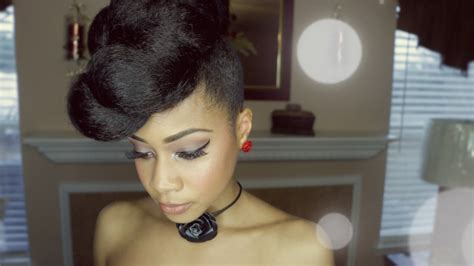 extravagant faux updo protective hairstyle hair tutorial