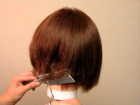 hoq to cut hair lady how to cut women s girls hair a line bob undercut bob