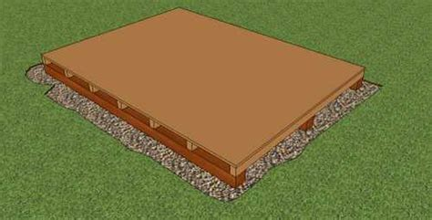 a storage shed foundation that is easy to build