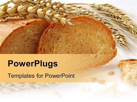 Powerpoint Template Wheat And Grains Bread With Gluten Free Ingredients For Cooking Recipe On A Powerpoint Recipe Template