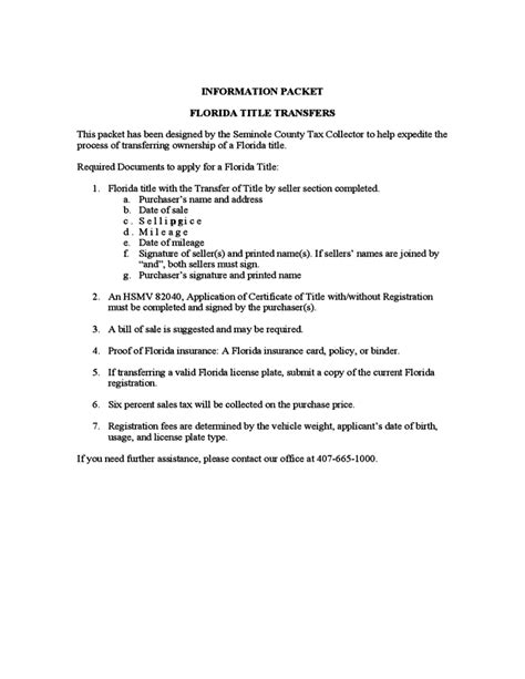 vessel bill of sale sle form florida free