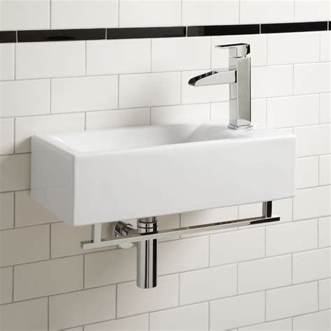 wall mounted sinks for small bathrooms leiden wall mount sink with towel bar small bathroom