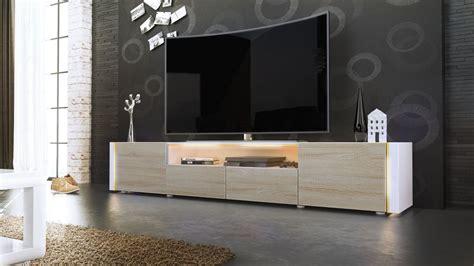 porta crema cinema casanova porta tv moderno mobile soggiorno bianco con led