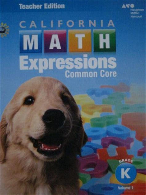california math expressions common k volume 1 te