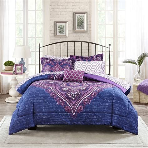 full size bed in a bag sets bedroom adorable pink and purple comforter sets queen