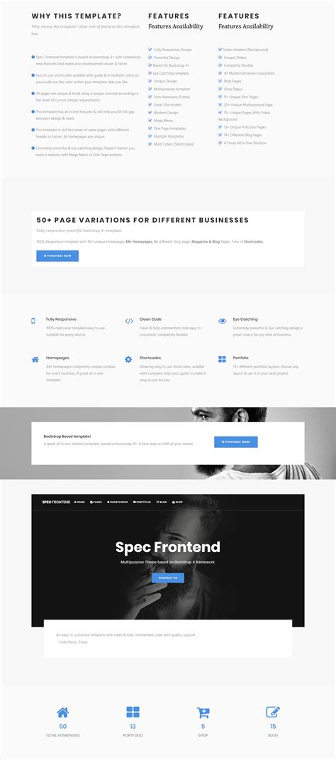 templates bootstrap frontend spec frontend multipurpose bootstrap template by coderboys