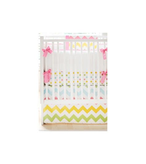 Zig Zag Crib Bedding Set New Arrivals Zig Zag Rainbow 2 Baby Crib Bedding Set