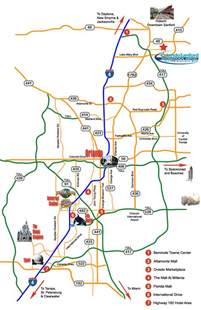 orlando sanford international airport area map and