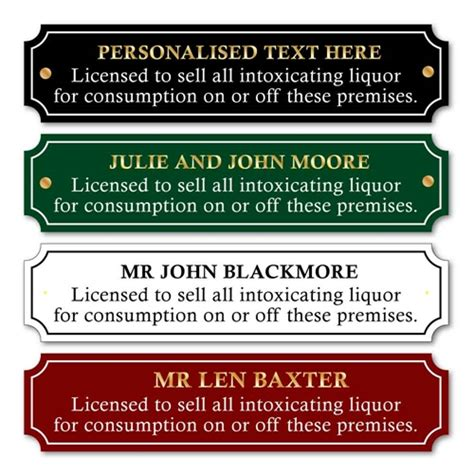 jaf graphics custom traditional licence to sell alcohol sign