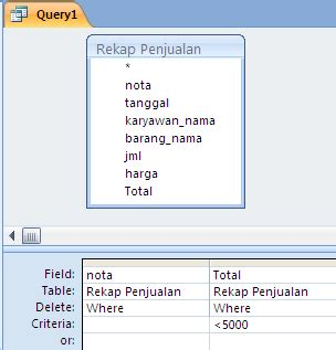 membuat query pada access 2010 membuat delete query pada access 2007