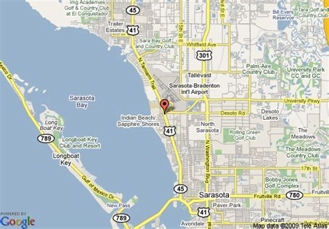 map of sarasota florida map of sarasota knights inn sarasota