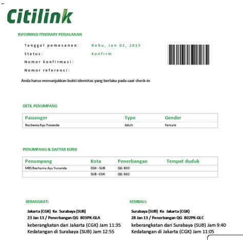 citilink boarding pass akyas tour cara pemesanan tiket pesawat