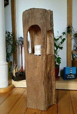 alte tische altholz eichenholz teelicht laterne windlicht skulptur