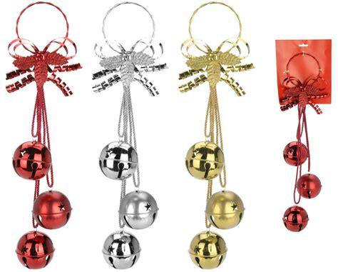 3 large oversize christmas bells wall hanging christmas
