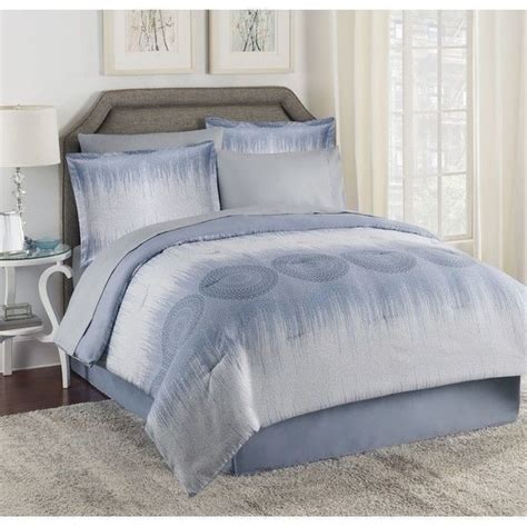 new twin full queen king bed bag blue ombre medallion 8 pc