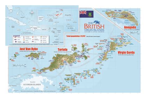 british virgin islands map location large travel map of british virgin islands british
