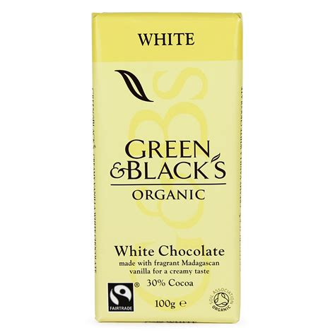 green white chocolate 100g buy whole foods